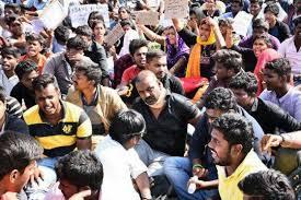 Jallikattu Protest   Students Refusing to Leave 2 Behind History
