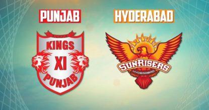 Kings XI Punjab vs Sunrisers Hyderabad   16th Match   Dream11 Team 32 Behind History