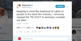 Rajinikanth Tweet Supports Theatre Strike | Continues for 3rd day 4 Behind History