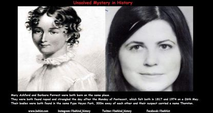 2 Unsolved Similar Murders - 157 Years Apart 59 Behind History