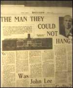 The man they could not hang - John 'Babbacombe' Lee 1 Behind History